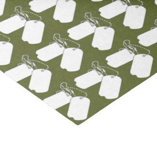 Dog Tags GI Camouflage Party Tissue Paper