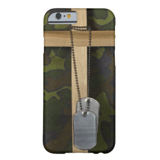 Dog tags with Cross Barely There iPhone 6 Case