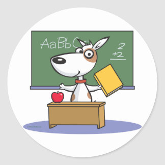 Dog Teacher Classic Round Sticker
