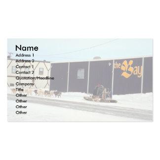 Dog team at the bay Churchill Manitoba Business Cards