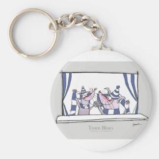 dog team blues forever key ring