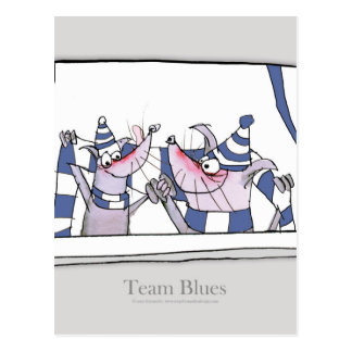 dog team blues forever postcard