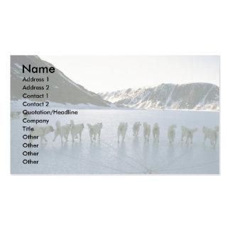 Dog team Greenland Business Card