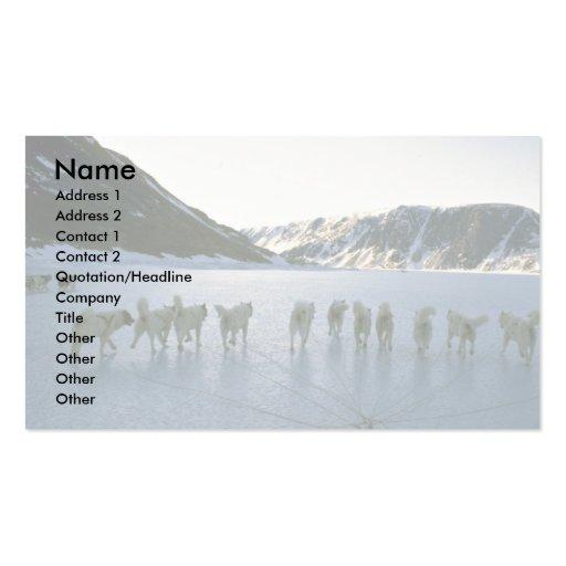 Dog team, Greenland Business Card