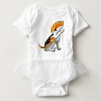 dog telescope baby bodysuit