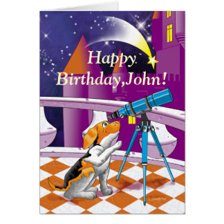 dog telescope card