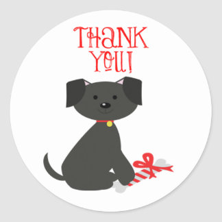 Dog Thank You Stickers