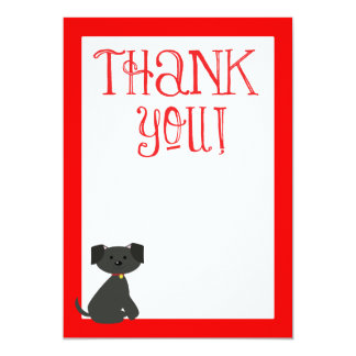 Dog Thank You, Thank you Note 13 Cm X 18 Cm Invitation Card