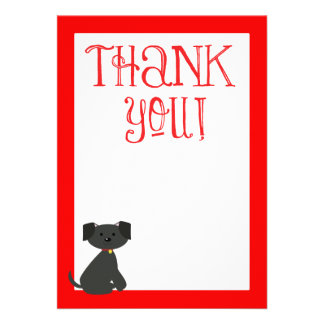 Dog Thank You, Thank you Note Custom Invitation