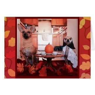 Dog Thanksgiving Card