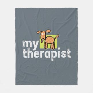 Dog Therapist Fleece Blanket