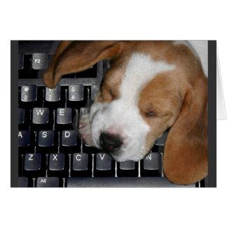 'Dog Tired' Notecard