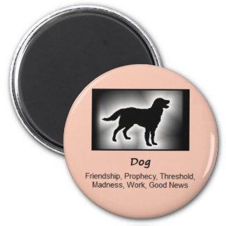 Dog Totem Animal Spirit Meaning 6 Cm Round Magnet