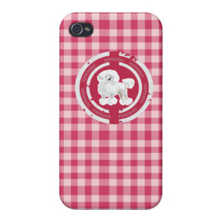DOG TOY POODLE  (PINK) iPhone 4 COVER