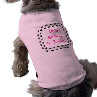 DOG TRACKS FRAME PET'S NAME EZ2 CUSTOMIZE T-SHIRT SLEEVELESS DOG SHIRT
