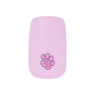 Dog Trail, Talk to the Paw - Pink Black Fingernail Transfers