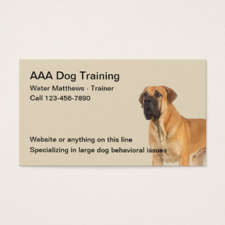 Dog Trainer And Obedience Training Business Card