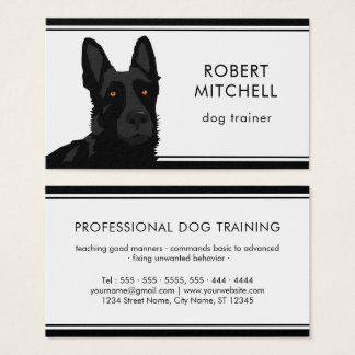 Dog Trainer Black German Shepherd Business Card