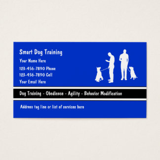 Trainer business cards zazzlecomau for Dog trainer business card