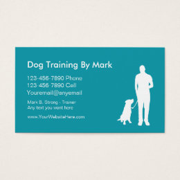 Dog training business cards business card printing zazzle dog trainer business cards colourmoves