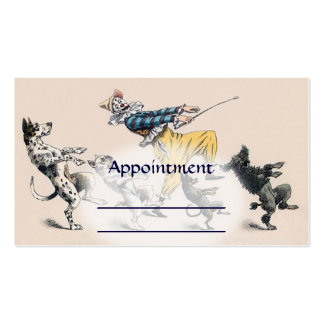 Dog Trainer, Clown, Dance Teacher Appointment card Pack Of Standard Business Cards