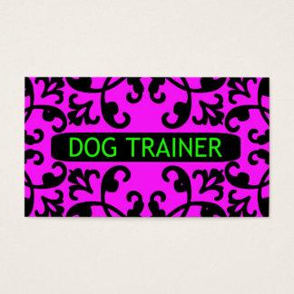 Dog Trainer Damask Business Card