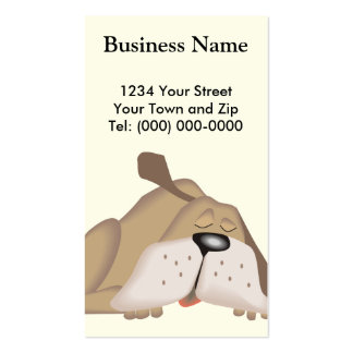 Dog Trainer Groomer Business + Appointment Business Cards