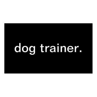 Dog Trainer Pack Of Standard Business Cards