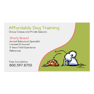 Dog Trainer Pet Business Naughty Samoyed Pack Of Standard Business Cards