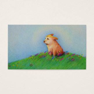 Dog trainer sitter walker groomer rescue cute art business card