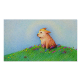 Dog trainer sitter walker groomer rescue cute art pack of standard business cards