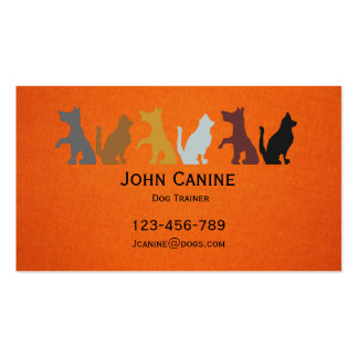 Dog Trainer stylish modern professional Pack Of Standard Business Cards