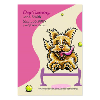 Dog Trainer Training Active Terrier Pink Pack Of Chubby Business Cards