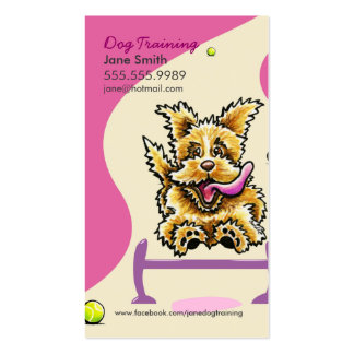 Dog Trainer Training Active Terrier Pink Pack Of Standard Business Cards