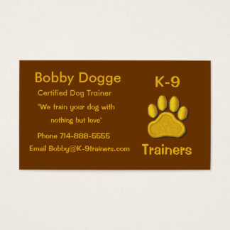 Dog Trainers Business Card