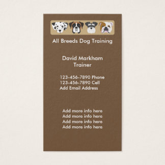 Dog Training Modern Businesscards Business Card
