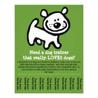 Dog Training, Walking, Grooming, Sitting promo tem Personalized Flyer