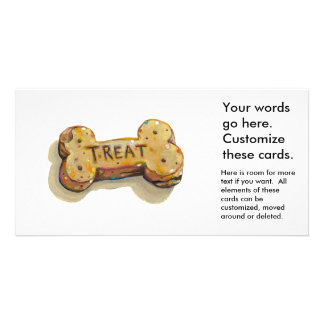 Dog treat cards for dogs parties businesses events photo greeting card
