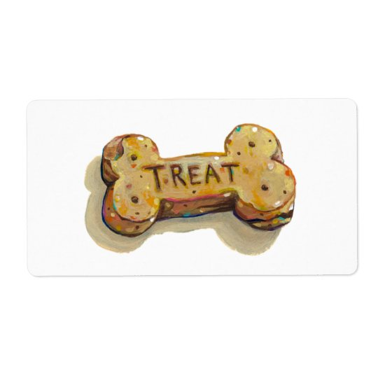 Dog treat stickers fun art for dogs party events shipping label