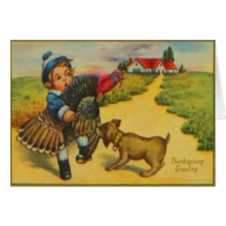 Dog & Turkey Card