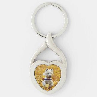 Dog Twisted Heart Key Chain