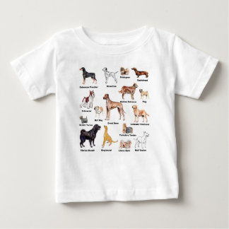Dog Types kid clothing Baby T-Shirt