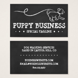 DOG WALK CHALK BUSINESS CARD