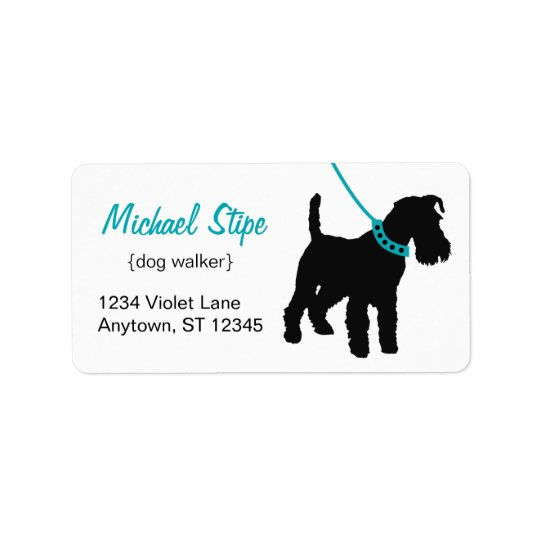 Dog Walker Address Labels teak
