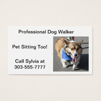Dog Walker Corgi Business Card