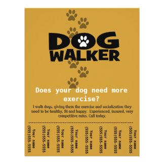 Dog Walker Custom promotional tear-sheet flyer