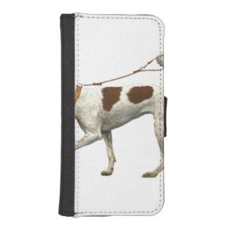 Dog walker - dog tail - braque saint germain iPhone SE/5/5s wallet case