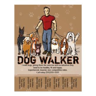 Dog Walker. Dog Walking. GUY. Advertising Template 21.5 Cm X 28 Cm Flyer