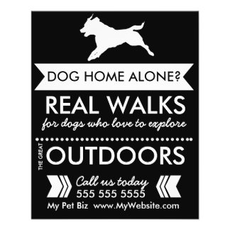 Dog Walker Flyer - Personalizable