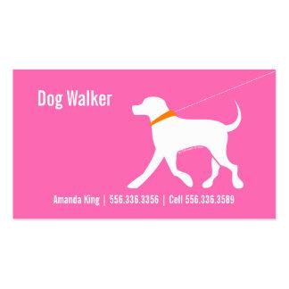 Dog Walker Pet Business Lab Modern Pink Double-Sided Standard Business Cards (Pack Of 100)
